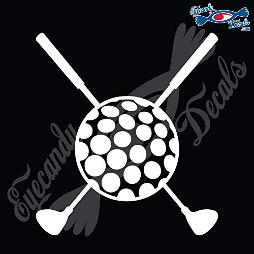 (Eyecandy Decals Golf Clubs Crossed with Golf Ball 6