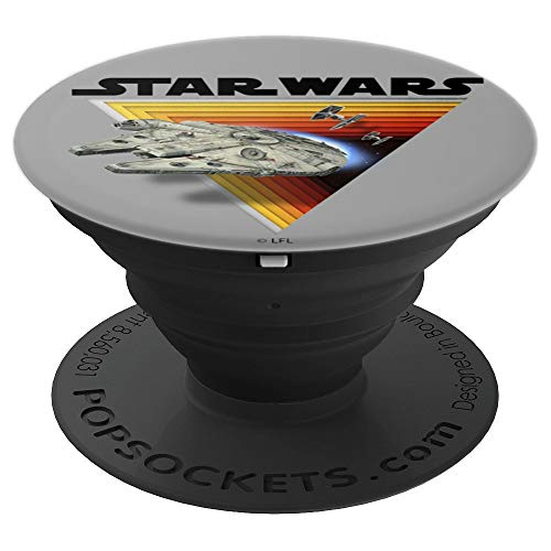 Star Wars Millennium Falcon Retro Depth Triangle - PopSockets Grip and Stand for Phones and -