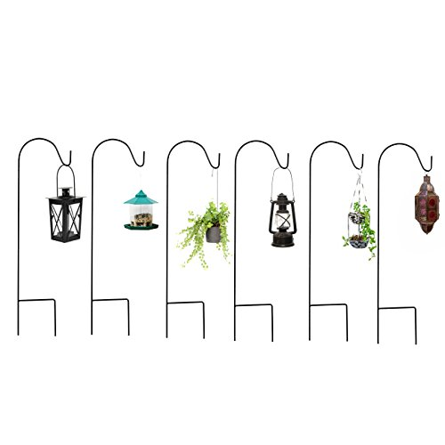 (Best Choice Products 35in Set of 8 Shepherd's Hooks Stakes for Garden Decor, Bird Feeders, Lights, Planters - Black)