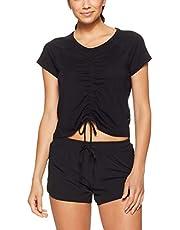 Calvin Klein Women's Ruched Front Short Sleeve Tee