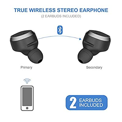 True Wireless Earbuds with Charging Case Newest Stereo Bluetooth Earbuds with Mic for Handsfree Bluetooth V4.2 Wireless Earphone Sport Headset for Bluetooth Devices Stable/Fashion/Portable