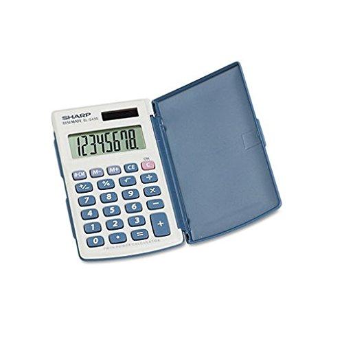 Sharp Electronics 8-Digit Twin Powered Calculator (EL-243S/EL-243SB) 5/Pack by Sharp