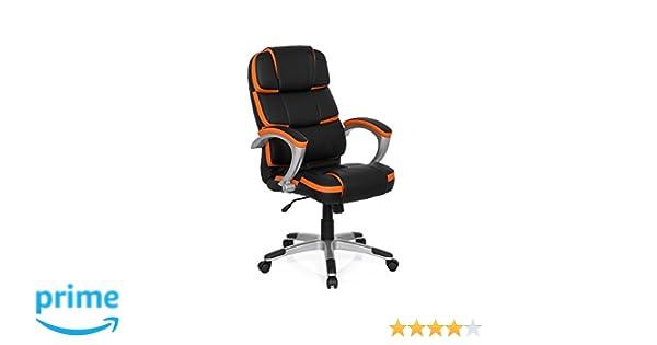 MyBuero silla gaming GAMING PRO BY 100 piel sintética negro / naranja silla escritorio 722120: Amazon.es: Hogar