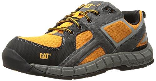 Caterpillar Men's Gain Steel Toe Work Shoe, Orange, 9.5 W US