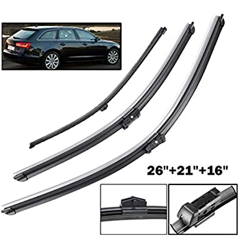 For VOLVO 480 Front Wiper Blade Replacment Rubber Pair Refills