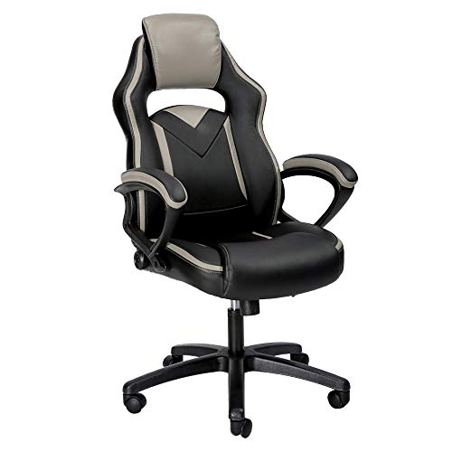 Merax Office Chair Computer Gaming Desk Chair Racing Style Ergonomic Design Office Chair (gray) Merax