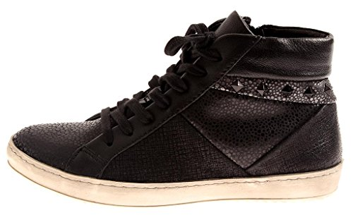 Shoes Leather 8264 Black Top Ladies' High Isabelle Shoes 8263 Trainers Footbed Removable vAqXw44Y