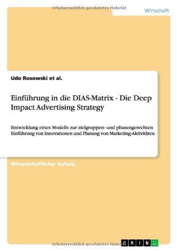 Einfbchrung Die Dias Matrix Advertising Strategy Pdf 290505047 Web Income