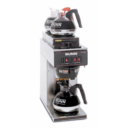 BUNN 13300.0004 VP17-3SS2U Pourover Commercial Coffee Brewer with One Lower and Two Upper ...