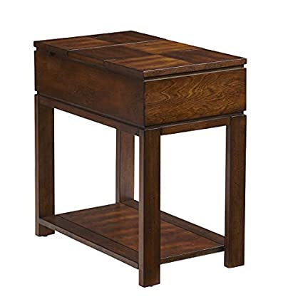 Amazoncom End Table With 2 Power Outlets And Usb Port Wood End