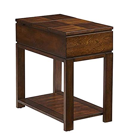 Amazon Com End Table With 2 Power Outlets And Usb Port Wood End