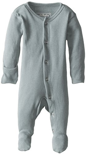 - L'ovedbaby Unisex-Baby Organic Cotton Footed Overall, Seafoam, 3/6 Months