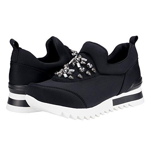 moda Athletic Light zapatillas Shoes las Slip de Casual Negro en Women's Walking respirable SheSole Sports 4nzCaC