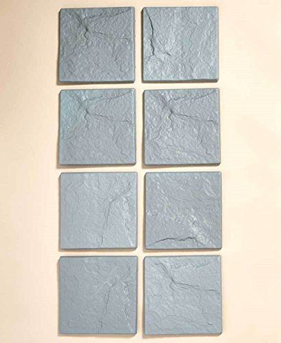 Adumly Set of 8 Pc Stone Look Pathway Steps Yard Flowerbed Walkway Garden Faux Stepping Stones - Faux Stepping Stones