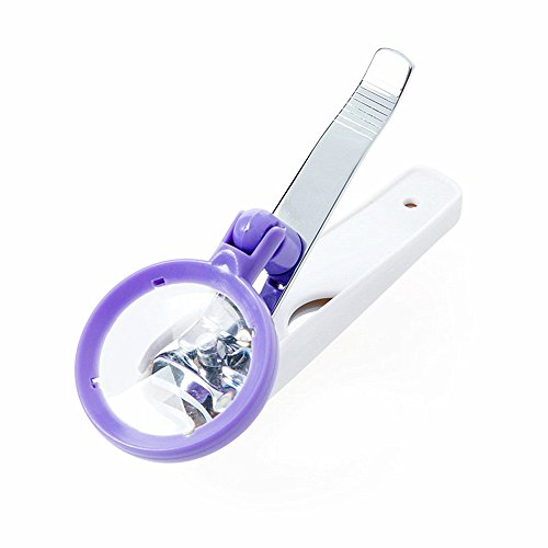 Huayoung Detachable Nail Clippers Daily Living Foot & Nail Care Aids with Magnifying Glass & Nail File