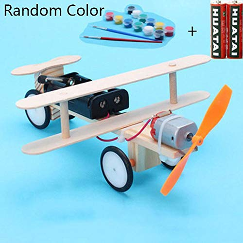 Bifast Kids Children Electric Taxiing Science Experimental Toy DIY Science Model Toy Airplane Construction Kits