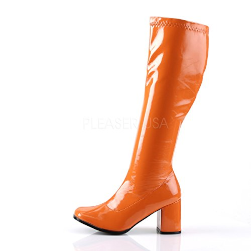 Collo Scarpe 300 GOGO Donna Alto Funtasma orange da a Arancione Patent xSPIpqpw4