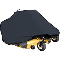 "Classic Accessories 52-150-040401-00 Zero Turn Riding Mower Cover, Black, Up to 60"" Decks"