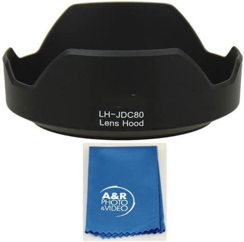 A/&R Bayonet Lens Hood for Canon PowerShot G1X Mark II G1XII Replaces LH-DC80 Cleaning Cloth
