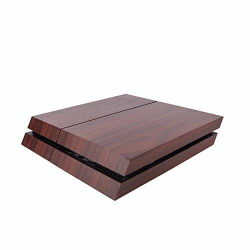 Premium PS4 PlayStation 4 Wood Effect Vinyl Wrap / Skin / Cover for PS4 Console and PS4 Controllers: Dark Mahogany