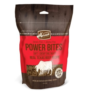 Merrick Pet Treats MP78513 Power Bites - Real Texas Beef