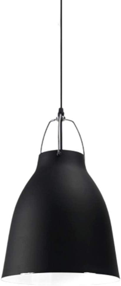 Color : Black ZHOUYA Chandelier Chandelier Modern Simple Single Head Single Nordic Office Lamp Large Hood Bar Counter Cover Mining Lamp Shade Lamp