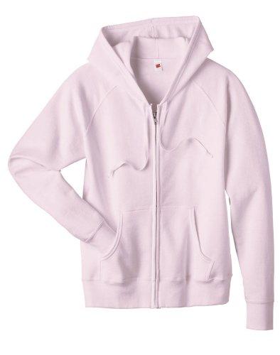 Hanes Women's Raglan Sleeves Full-Zippered Cotton Hoody - CAROLINA BLUE - XX-Large