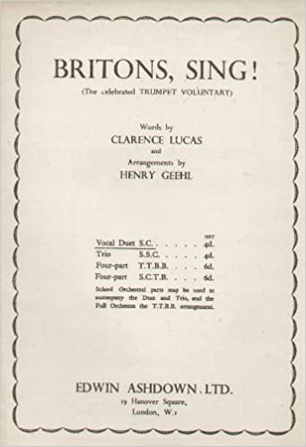 Trumpet Voluntary  (Britons, sing!) Purcell  Arranged for two voices