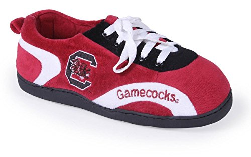 SCU05-3 - South Carolina Gamecocks - Large - Happy Feet Mens and Womens All Around Slippers