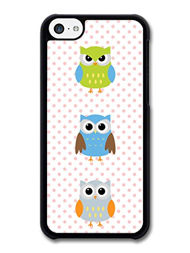 New Cool Owl Pattern Colourful Design Cute Sweet coque pour iPhone 5C