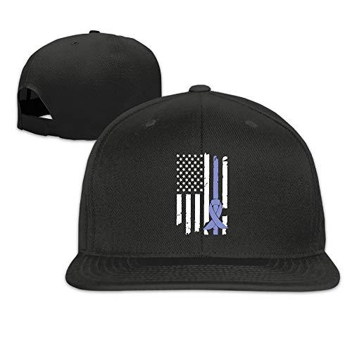 MAGIICAP Adult Trucker Cap, Vintage Stomach Cancer Awareness USA Flag-1 Adjustable Hip Hop Flat Billed Baseball Cap