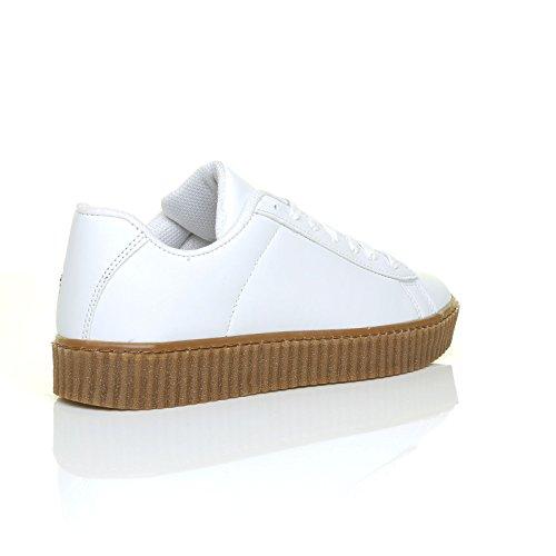 Uk Sneaker Donna White Unica Shuwish Bianco Taglia 4ZxqyOw