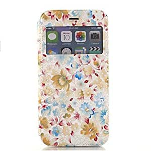 WQQ Fashion Painted Flowers Fenestration PU Full Body Case with Stand for iPhone 6 Plus