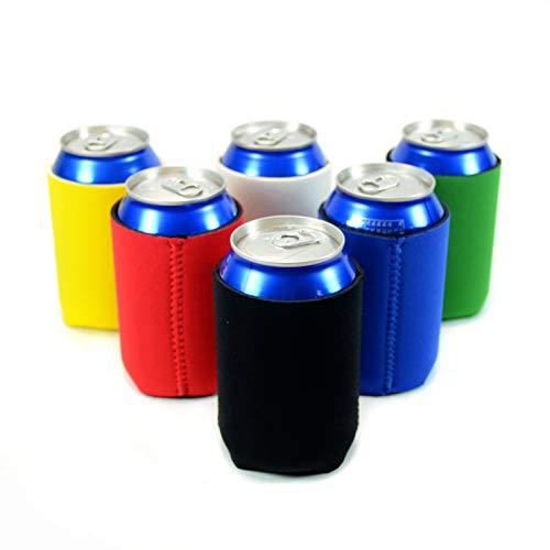Neoprene Beer Can Cooler Sleeve (Multi Colors 6-Pack