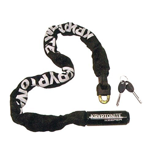 Kryptonite Keeper 785 Integrated Bicycle Lock Chain Bike Lock, 33.5-Inch, Black (Steel Chain Bicycle)