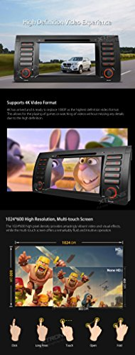 XTRONS Octa-Core 64Bit 2G RAM 32GB ROM 7 Inch Capacitive Touch Screen Car Stereo Radio DVD Player GPS CANbus Screen Mirroring Function OBD2 Tire Pressure Monitoring for BMW E53 X5 by XTRONS (Image #4)