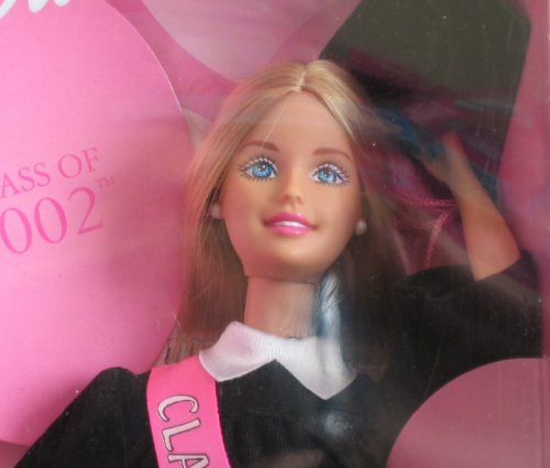 2001 Mattel Barbie Class of 2002 Special Edition Doll w Black Grad Gown 50501