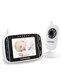 HelloBaby HB32 Digital Wireless Video Baby Monitor with Night Vision & Temperature Sensor, 2 Way Talk