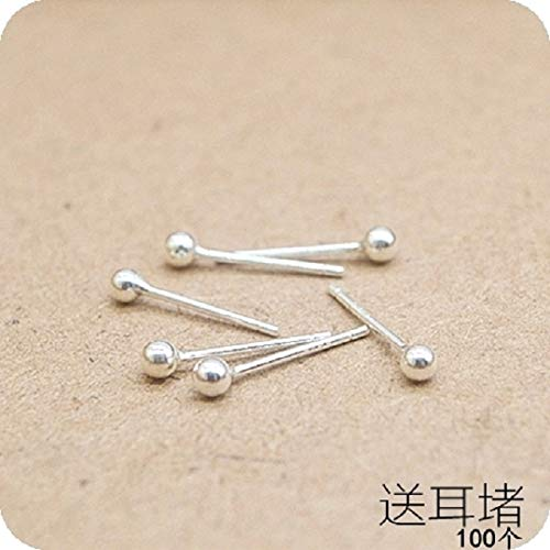 999 Silver Earrings Earring Dangler Eardrop Ear rods Women Girls Creative Gift s925 Hypoallergenic Acupuncture Support Small (Super adzuki Bean 4 + 4 Ordinary (not Imagined) PYHIME