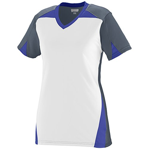 Augusta Sportswear Women's Matrix Jersey L Graphite/White/Purple ()