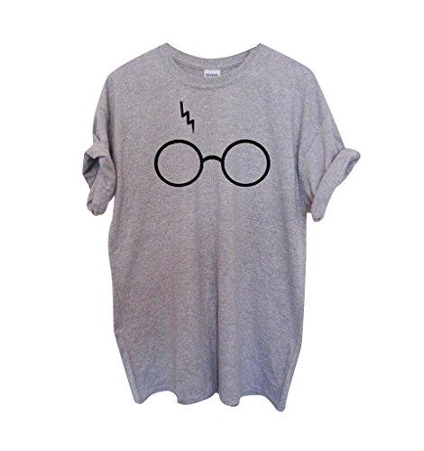 Camisetas Anchas Mujer Blusas Blusa Camisas Para Damas Camisa Manga Corta Camiseta Señora Camisetas de Verano Remeras de Mujer Tops Cuello Redondo Personalizada Casual Oversize Gris