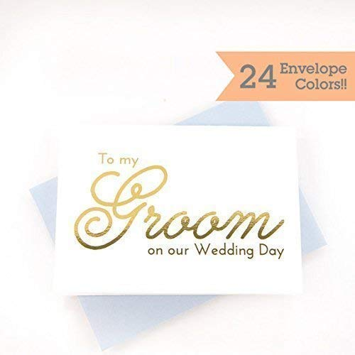 To My Groom On Our Wedding Day Card with Color Foil (WC001-PL-F) ()