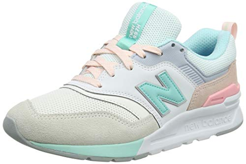 Woman Salt - New Balance Women's 997H V1 Sneaker, SEA Salt/Light Tidepool, 6 B US