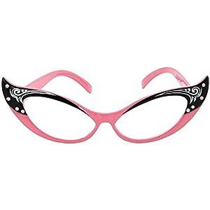 Elope Vintage Cat Eye Glasses (Pink)