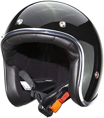 Casco de moto jet con remaches Pendejo by iguana custom collection negro brillo M