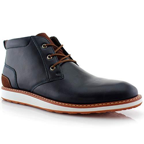 Ferro Aldo Houstan MFA506031 Mens Memory Foam Casual Chukka Mid-Top Sneaker Boots - Blue, Size 9.5