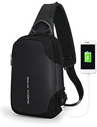 "Anti-theft Sling Chest Bag Handbag for Men women,Waterproof Crossbody Travel Shoulder Bag Fit for 9.7"" ipad"