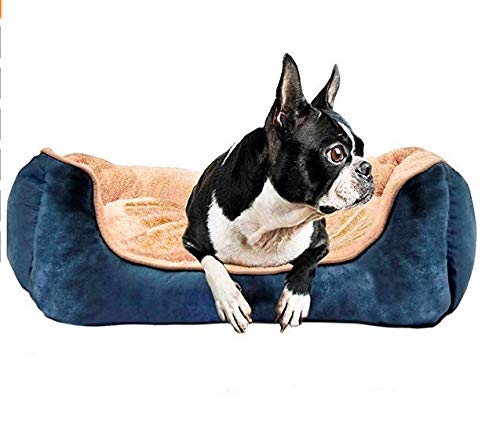 YIHATA Comfortable Dog Bed Pet Bed Dog Bed Medium SizeThicken Puppy Beds with Removable Cozy Mat Plush Mattress Ideal for Small Pets Machine Washable
