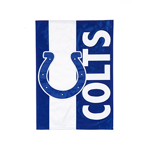 - Team Sports America Indianapolis Colts Embellish Garden Flag, Multicolor