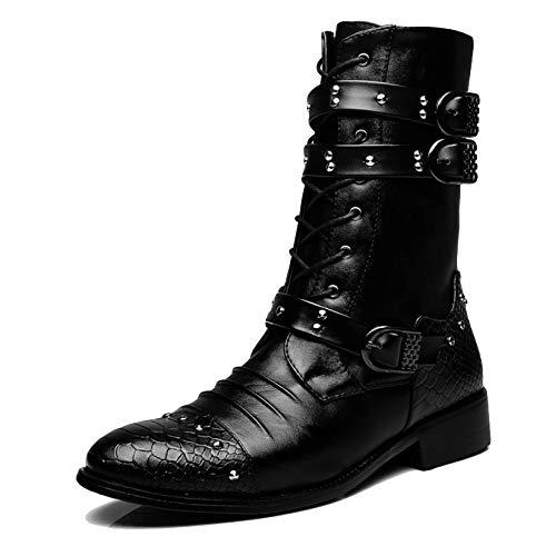 Classic Antiscivolo Da Tall EU40 Combattimento Labelsize40 UK6 Stivali Lunghi Trekking Boots Uomo Horse Riding Army Black B Militare Black Impermeabile Outdoor Boot Scarpe WKNBEU Up Lace Hp6ZqxEw